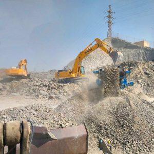 excavadoras trabajando